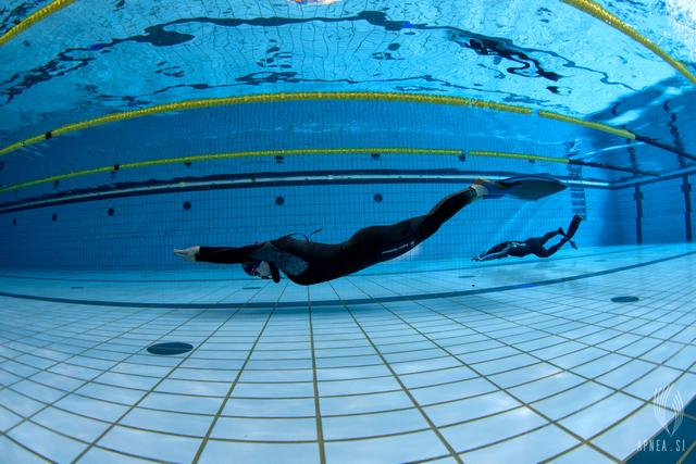 Viti Kremser je zgolj malo manjkalo do novega državnega rekorda v disciplini s plavutjo