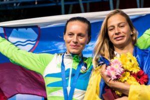 Zlata medalja in svetovni rekord v kategoriji bi-fins
