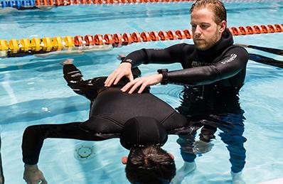 treningi potapljanja na vdih - statična apnea